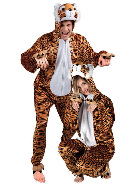 Disfraz de tigre de peluche para adulto - original