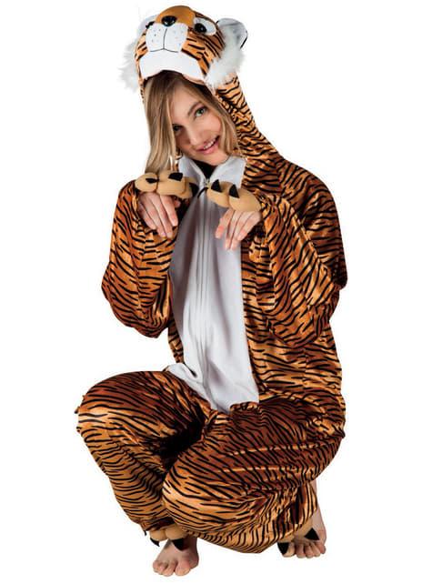 Disfraz de tigre de peluche para adulto - adulto