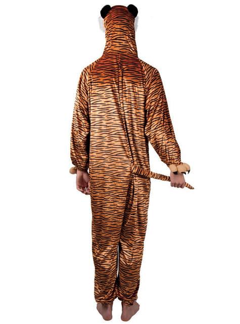 Disfraz de tigre de peluche para adulto - traje