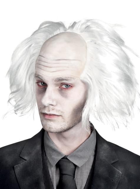 Peluca de Zombie blanca para adulto