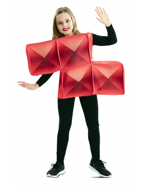Disfraz de Tetris rojo para niños