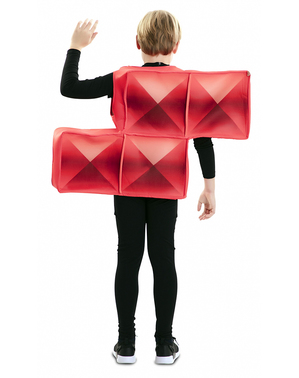 Costume tetris rosso per bambini