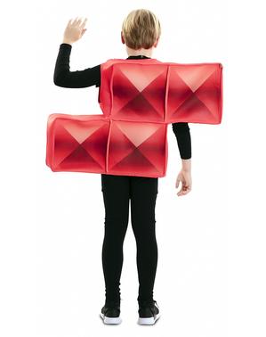 Kostým červená tetrisová kostka pro děti