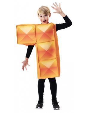 Oranje Tetris Kostuum voor kinderen