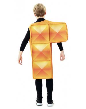 Disfraz de Tetris naranja para niños