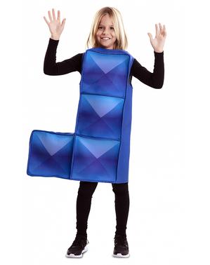 Kostým modrá tetrisová kostka pro děti