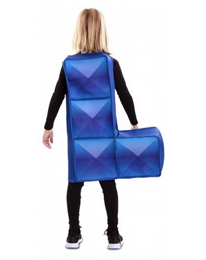 Tetris Kostüm blau für Kinder