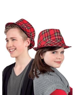 Dětský klobouk kostkovaný