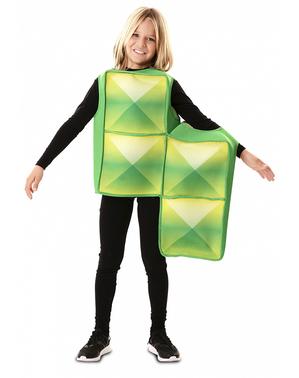 Déguisement Tetris vert pour enfant