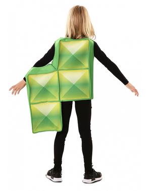 Kostým želená tetrisová kostka pro děti