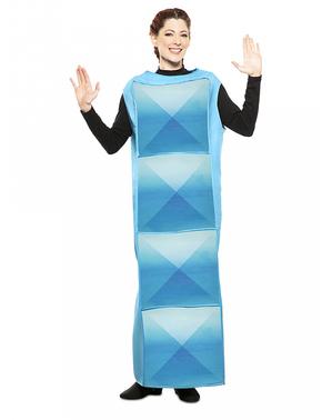 Kostým světle modrá tetrisová kostka pro děti