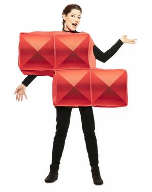 Kostým červená tetrisová kostka pro dospělé