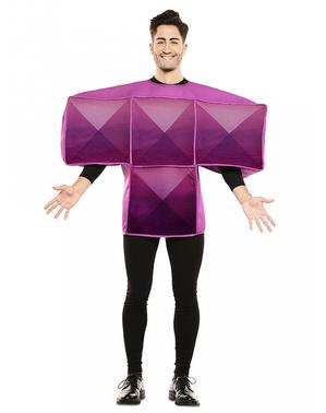 Paars Tetris Kostuum voor volwassenen