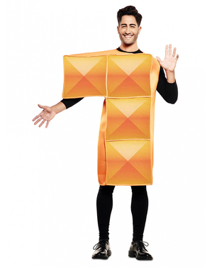 Costum portocaliu Tetris pentru adulți
