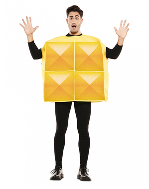 Disfraz de Tetris amarillo para adulto