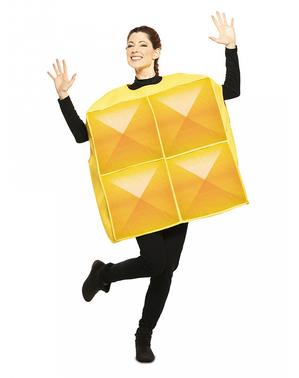 Kostým žlutá tetrisová kostka pro dospělé