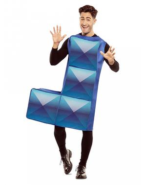 Fato de Tetris azul para adulto