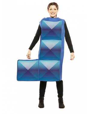 Blue Tetris Costume for Adults
