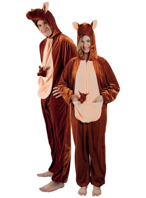 Disfraz de canguro de peluche para adulto - Halloween