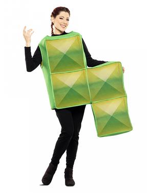 Fato de Tetris verde para adulto