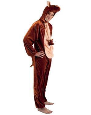 Costume da canguro di peluche per adulto