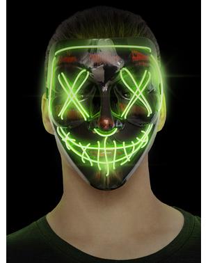 LED Halloweenská maska