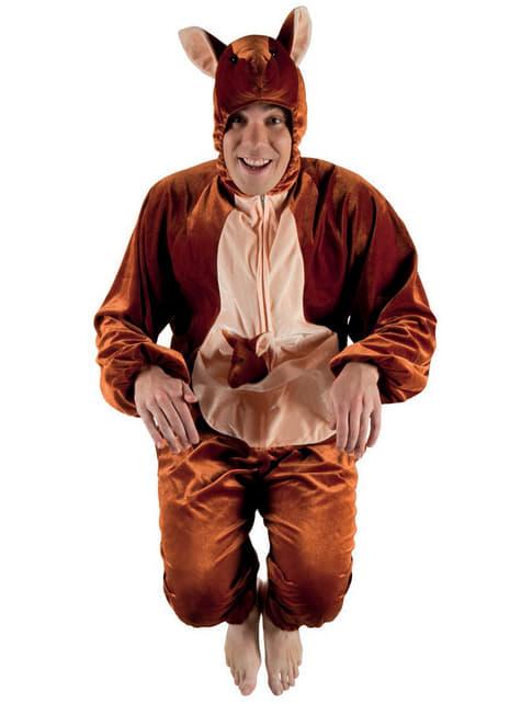 Disfraz de canguro de peluche para adulto - original