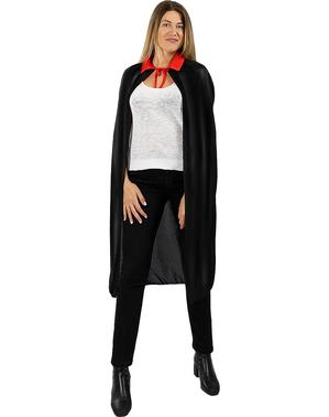 Zwarte vampiercape voor volwassenen (110 cm)