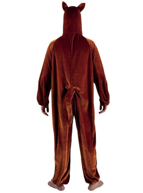 Disfraz de canguro de peluche para adulto - traje