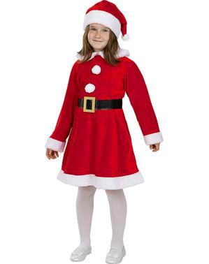 Deluxe Kerstvrouw kostuum voor meisjes