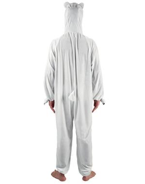 Polarbär Stofftier Kostüm für Erwachsene