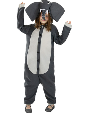 Disfraz de elefante onesie para niños