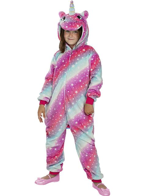 Disfraz de unicornio multicolor onesie para niños