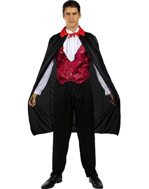 Černý upíří plášť pro dospělé (110 cm)