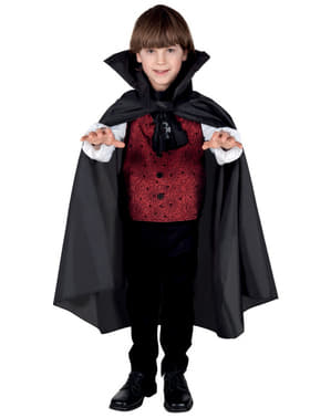 Capa de Vampiro con cuello para niño