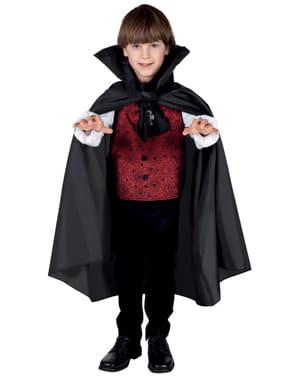 Cape vampier met kraag voor jongens