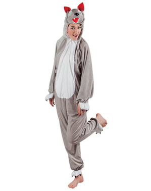 Adult's Stuffed Wolf Costume