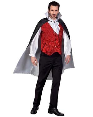 Oboustranný plášť pro dospělé černý/bílý