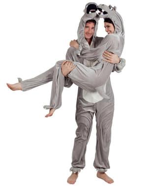 Costume da ippopotamo di peluche per adulto