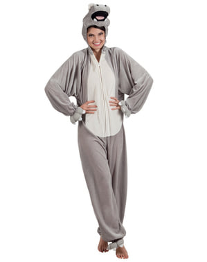 Adult's Stuffed Hippopotamus Costume