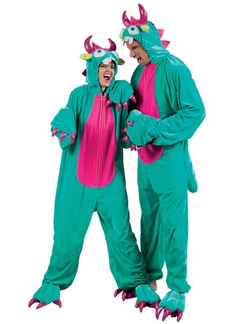 Disfraz de monstruito verde para adulto - traje