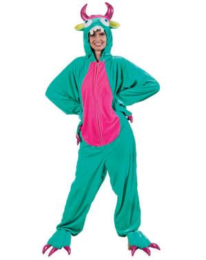 Maskeraddräkt Monster grön för vuxen