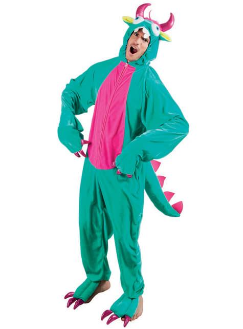 Disfraz de monstruito verde para adulto - adulto