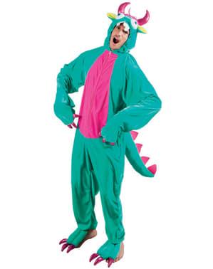 Disfraz de monstruito verde para adulto