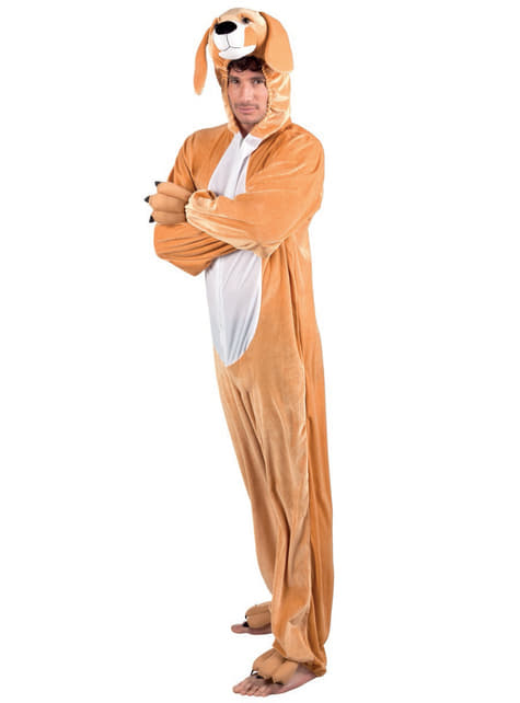 Man's Stuffed Dog Costume