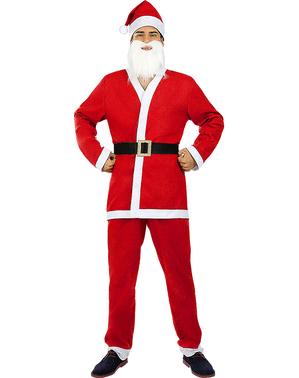 Julenissekostyme til menn plusstørrelse