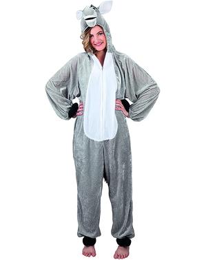 Costum măgăruș de pluș pentru adult