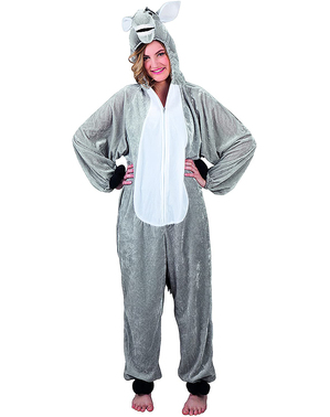 Costume da asino di peluche per adulto