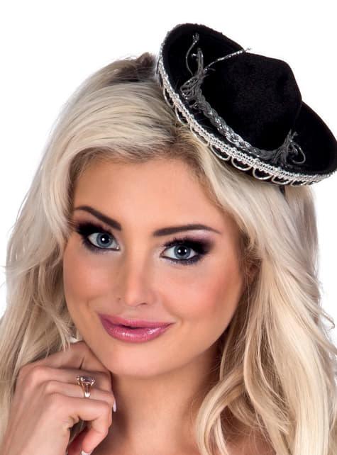 Mini sombrero de mexicano para mujer