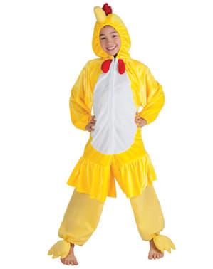 Kyllingekostume i plys til drenge